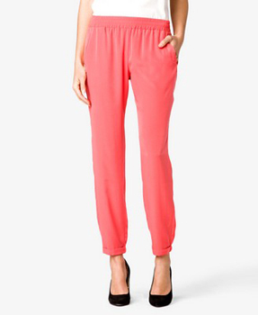 Forever 21 satin slouchy pants, $16.75