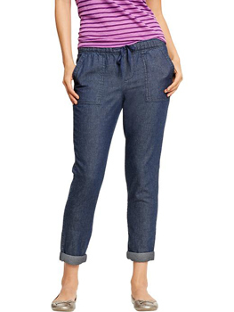 Old Navy denim slouchy pants, $29