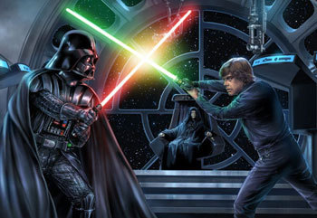 Darth Vader and Luke Skywalker