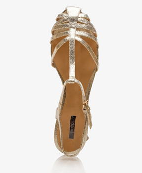 Forever 21 gold sandals, $16.99
