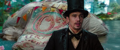 Oz (James Franco) lands in Oz