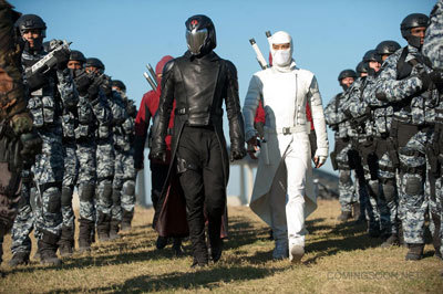 Cobra Commander (left) and his army