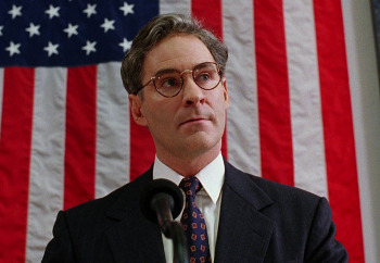 Kevin Kline as a mild-mannered man who becomes prez
