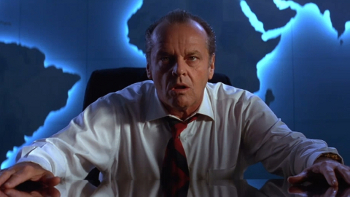 Jack Nicholson in the sci-fi comedy Mars Attacks!