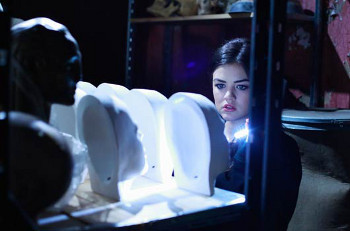 Aria discovers masks of Ali's face!