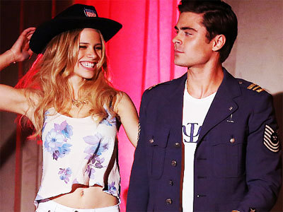 Halston with Zac Efron in Townies
