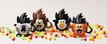 Scratch the Tiger, Bandit the Zebra, Spanky the Monkey and Squeak the Penguin