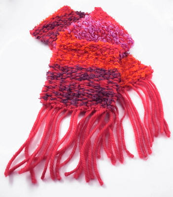 Threadz Scarf Kit comes with all the yarn you need