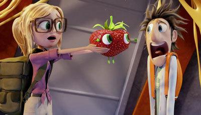 Sam shows Flint her new friend Berry