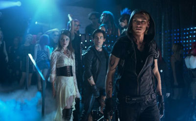 Jace (Jamie) with Isabelle and Alec in the club
