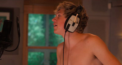 Niall recording the new album