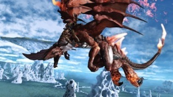 Fly atop your dragon, in Crimson Dragon