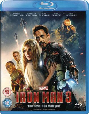Iron Man 3 Blu-Ray cover