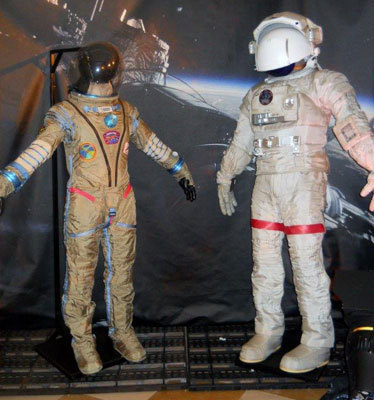 Spacesuits worn by Sandra and George