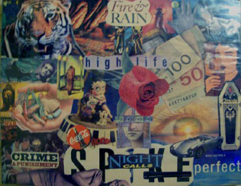 Collages are fun because you can mix anything you want!