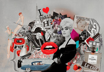 Why not give each collage a theme? This lips collage is so much fun!