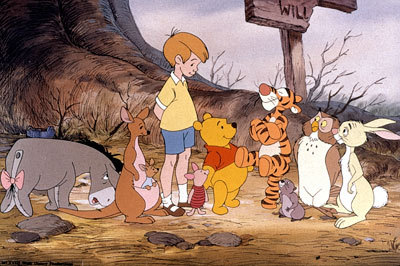Christopher Robin and friends