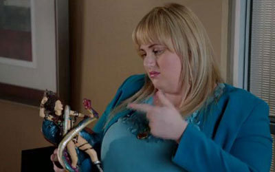 Kimmie at the office playing with her Maura doll