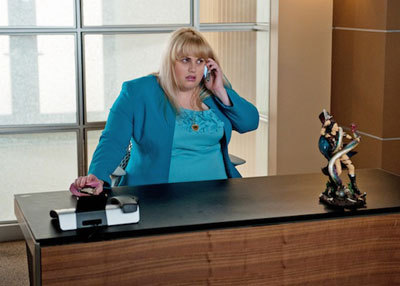 Kimmie (Rebel) at her desk at work