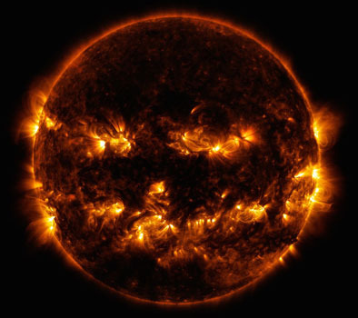 Even the sun gets dressed up for Halloween!