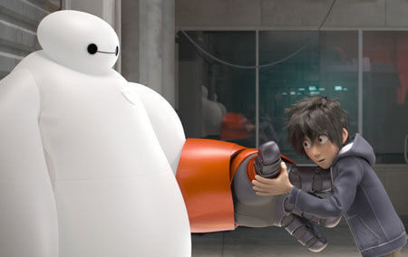 Hiro and Baymax, getting to know each other