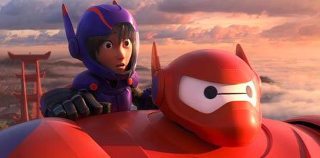 Baymax and Hiro on a wild ride!