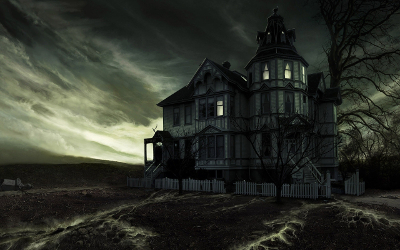 """Some ghosts are right """"at home"""""""