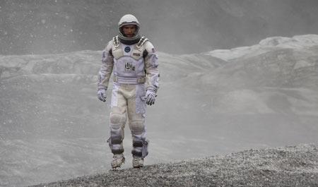 Matthew McConaughey as Cooper explores a new world