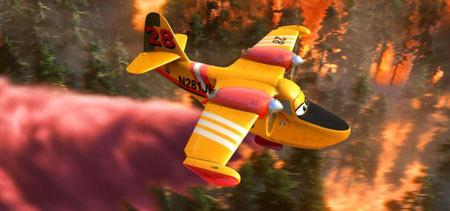 Lil' Dipper drops her load of fire retardant