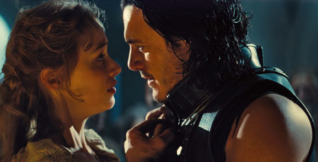 Mirena (Sarah Gadon) and Vlad (Luke Evans) hope they'll survive