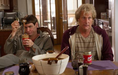 Lloyd and Harry eat a fave but weird dinner