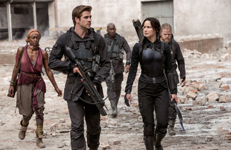 Gale and Katniss head for a rebel hospital