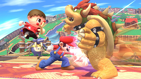 Mario and Villager take on Bowser!