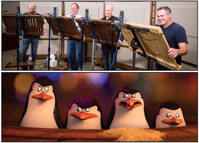 Penguin voice actors in action