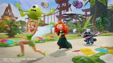 Tinker Bell, Merida, and Stitch