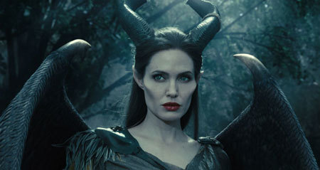 Maleficent's horns are wrapped with the skin of a stingray here