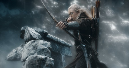 Legolas (Orlando Bloom) takes aim