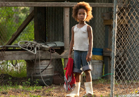A younger Quvenzhane in Beasts of the Southern Wild