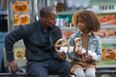 Stacks and Annie share a giant pretzel