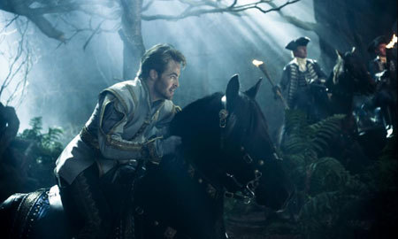 Prince Charming (Chris Pine) searches for Cinderella