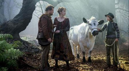 Baker's wife (Emily Blunt) meets Jack of Beanstalk fame