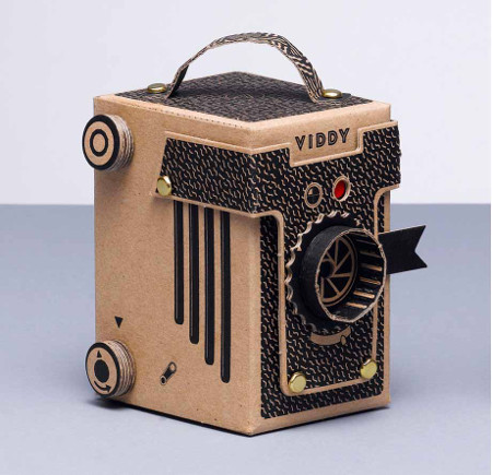 This assemble-yourself pinhole camera is super cute!