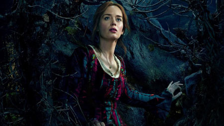 Baker's wife (Emily Blunt) sees the prince in the woods