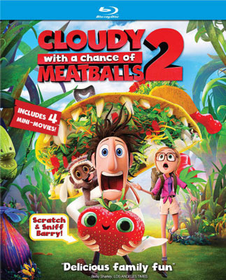 Cloudy With A Chance of Meatballs 2 Blu-ray Cover art