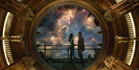 Gamora and Quill get romantic