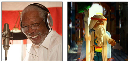 Morgan Freeman recording the voice of Vitruvius