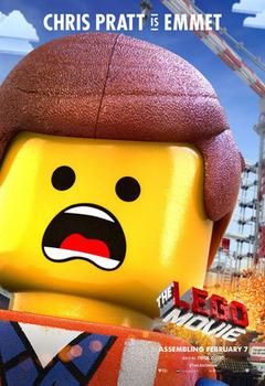 Emmet voiced by Chris Pratt