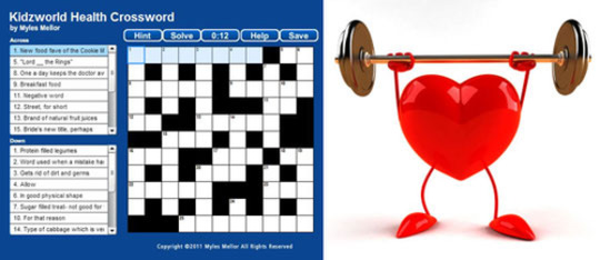Health Crossword Puzzle Kids Trivia Games