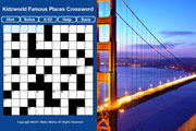 Preview famous places crossword pre