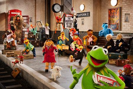 The Muppets on their European tour